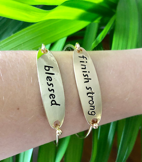 Word Bangle Bracelet