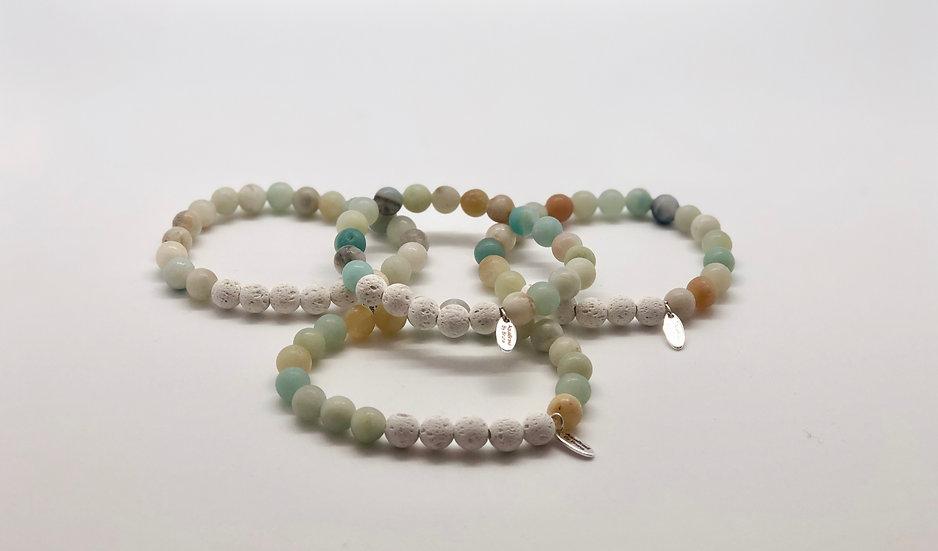 Amazon Stone. Oil Diffuser Bracelet