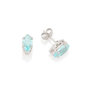 """""""Aquamarine"""" Crystal Stud Earrings"""