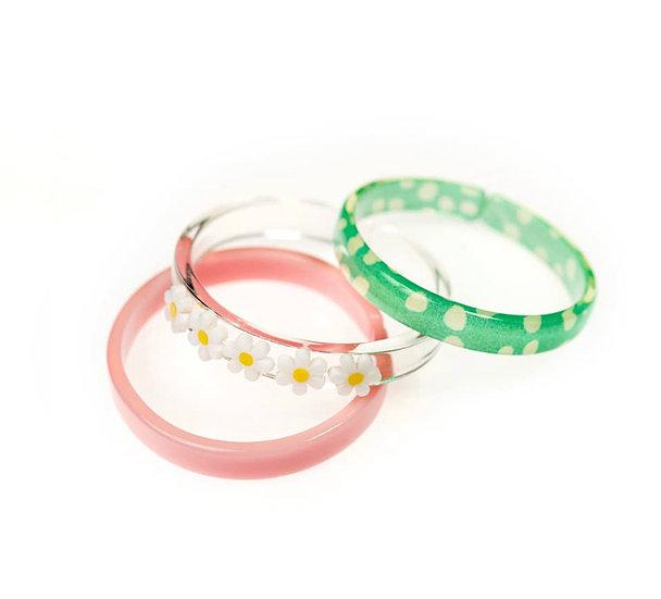 3 Piece Daisy Bracelet Set