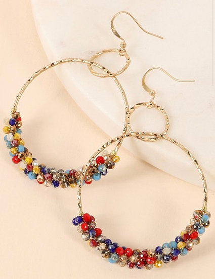 Colorful Double Ring Earrings
