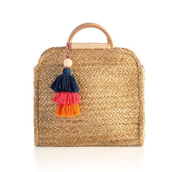 Adria Top Handle Bag - Natural