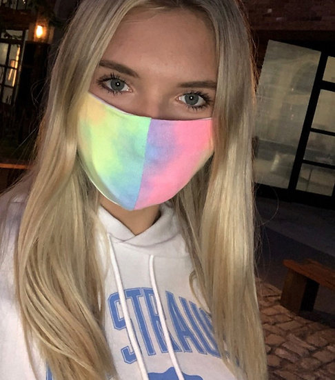 Tie Dye Face Mask with filter insert