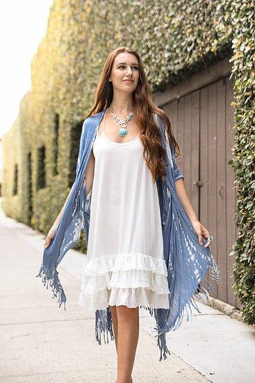 Blue Tie Dye Kimono Wrap