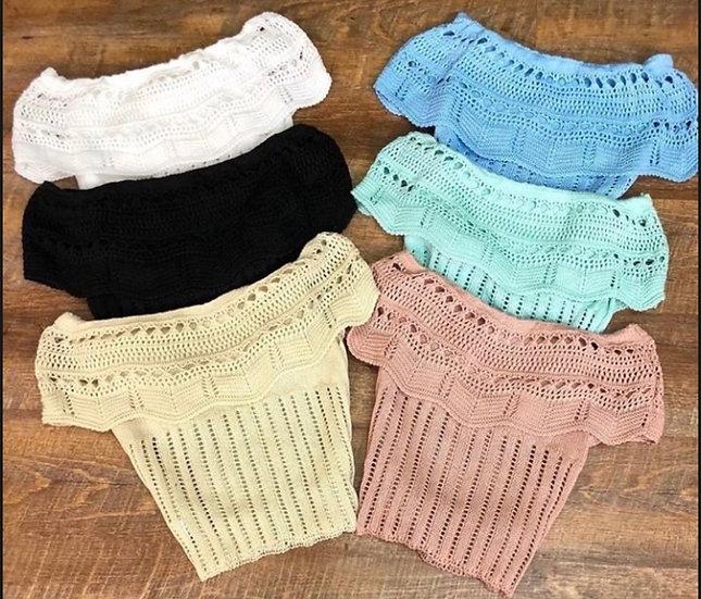 Crochet Off The Shoulder Top