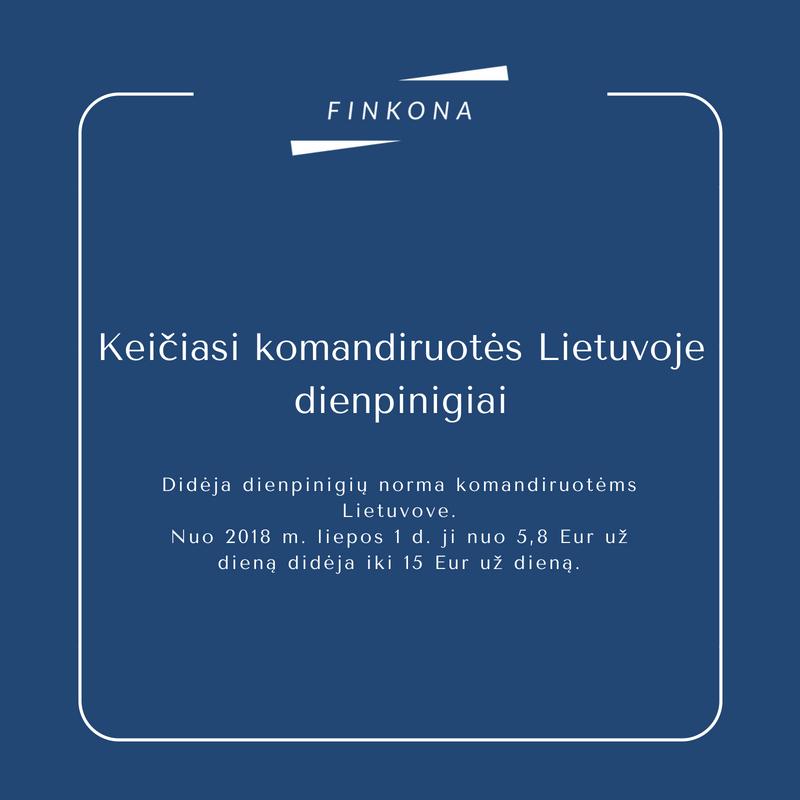 Didėja dienpinigiai komandiruotėms Lietuvoje