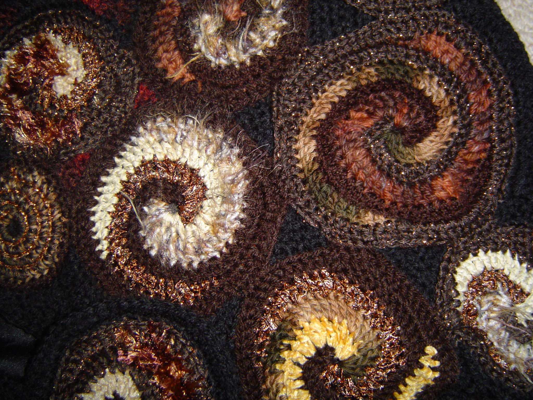 Blackberries on the woodpile detail