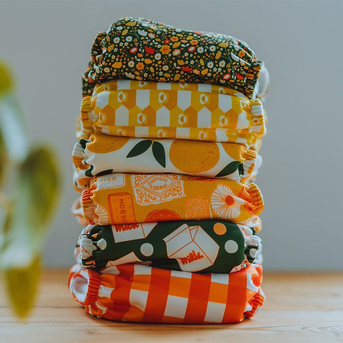 Nipper Nappies Morning Picnic Collection - One Size Pocket Nappy