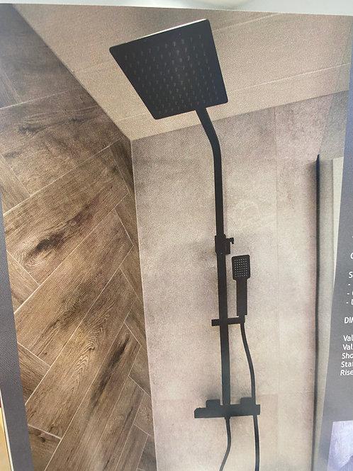 Eclipse Dual Shower Matt Black VM103K