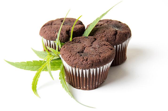 medical marijuna infused chocolate muffins