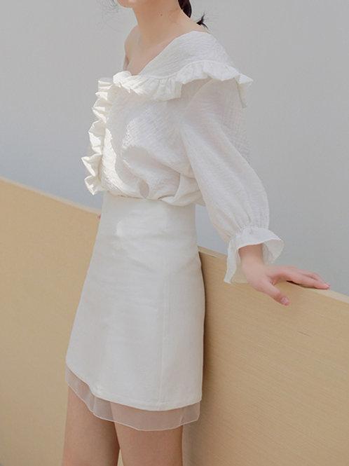 Organza Hem A Cut Skirt