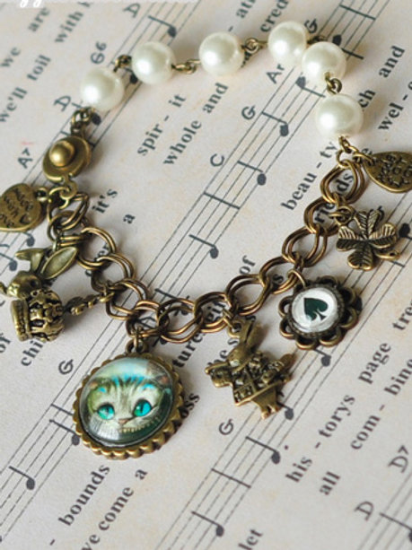 Cheshire Cat in Wonderland Bracelet