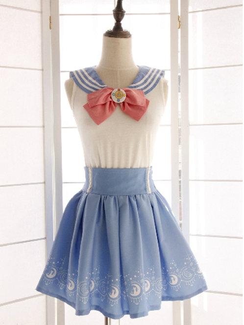 Sailormoon Navy Collar Blouse