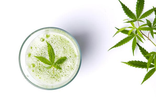 cannabis fan leaves