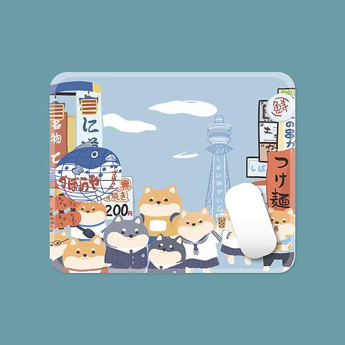 Japanese Shiba Inu/ Cat Mouse Pad