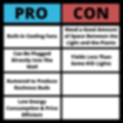 LED Lights Pros and Cons