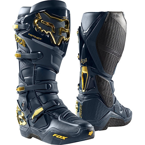 Fox Racing Instinct Navy/Gold Boots