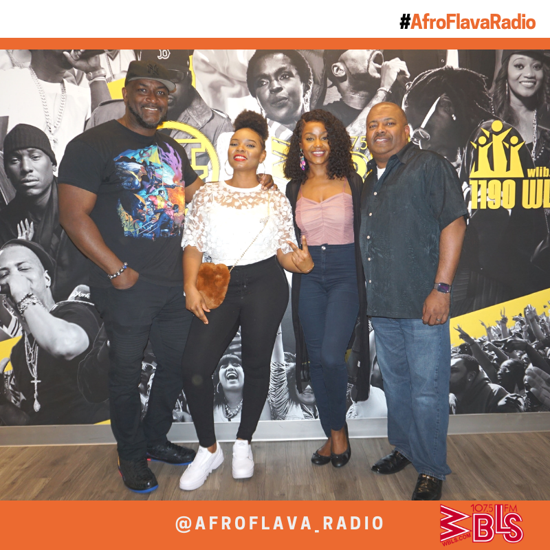 The AfroFlava Radio Team with Yemi Alade
