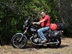 Pannier Racks on a Vintage Motorcycle