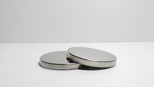 Silver Candle Jar Lid