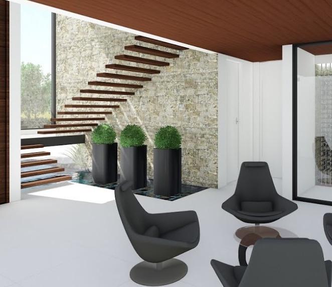 Escada Flutuante em Estrutura Metálica - Elegância e Modernidade - Condomínio Terras de São José II Itu - SP