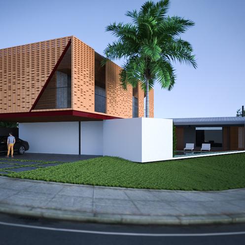 Residência Estrutura Metálica - Condomínio Sun Lake - Londrina - PR