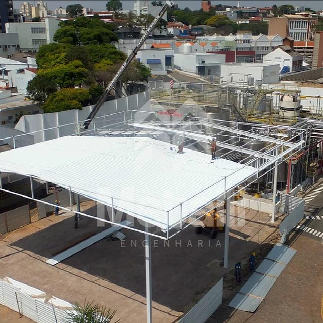 ANTAARES Construções e Instalações - ÁREA DE DESCARREGAMENTO DOVE - UNILEVER