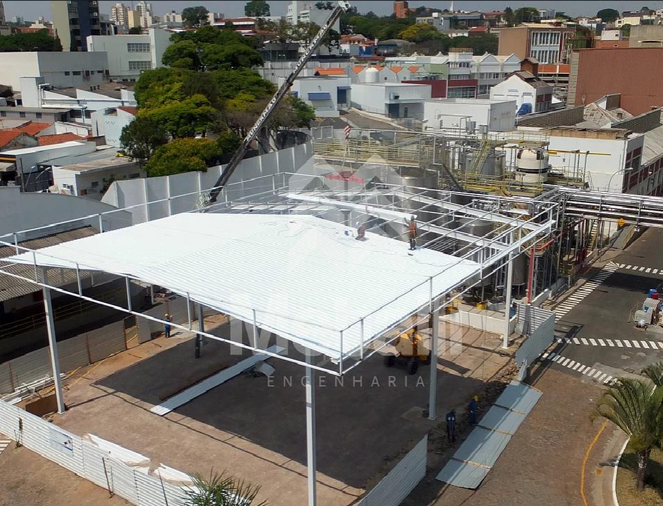 ANTAARES Construções e Instalações - ÁREA DE DESCARREGAMENTO DOVE - UNILEVER.