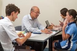 Head Tutor Djuang helps high school children accelerate their understanding of maths