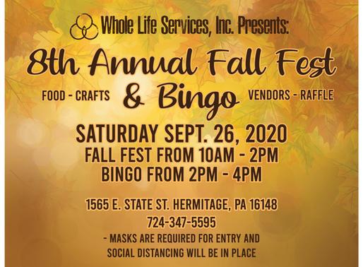 8th Annual Fall Fest + Bingo!