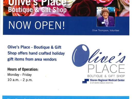 Studio C- Managed Gift Shop at Sharon Regional Medical Center Re-opens December 3rd.