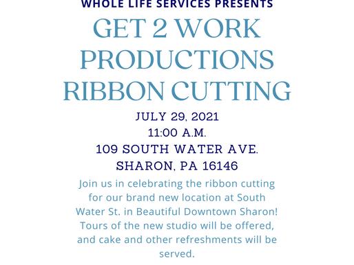Get 2 Work Ribbon Cutting