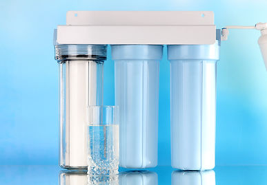 Filter system for water treatment with g