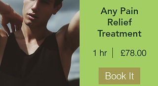 1 hour any pain relief booking - 07393 130040