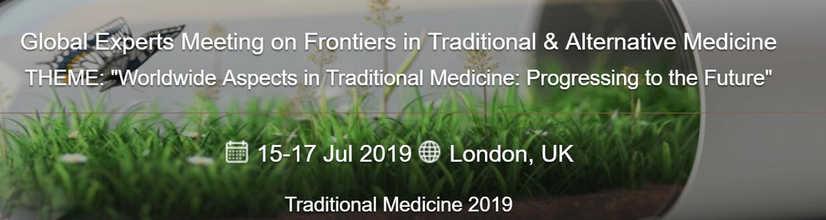 Global Experts Meeting in Tranditional Medicine 2019 London UK