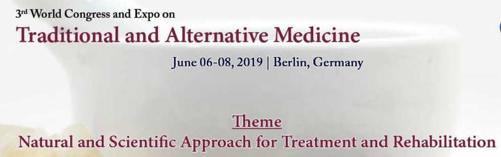 Traditional and Alternative Medicine Congress in Berlin Cermany 2019