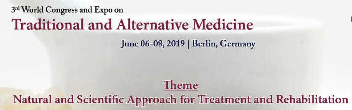 Traditional and Alternative Medicine Congress in Berlin Cermany 2019