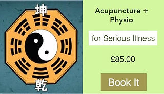 Acupuncture booking for serious illness.