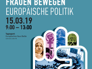 Women move European politics!  Event for the European elections 2019 - Programme