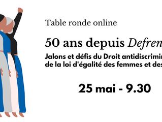 50 ans depuis Defrenne I - table ronde online