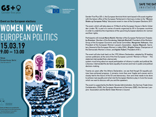 "Invitation to the event: ""Women move European politics!"""