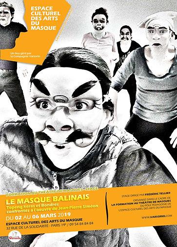 théâtre de masques; Bali;