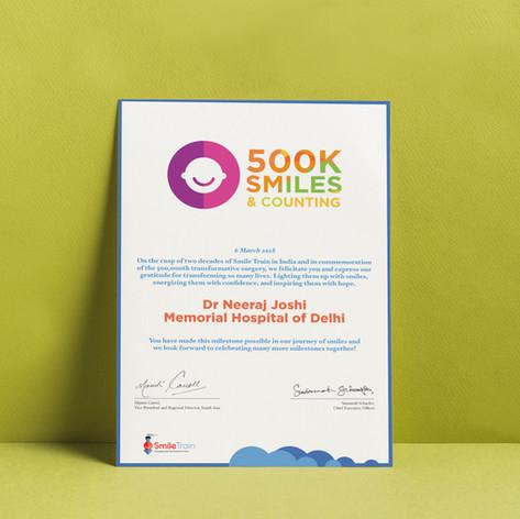 Honoree Certificate