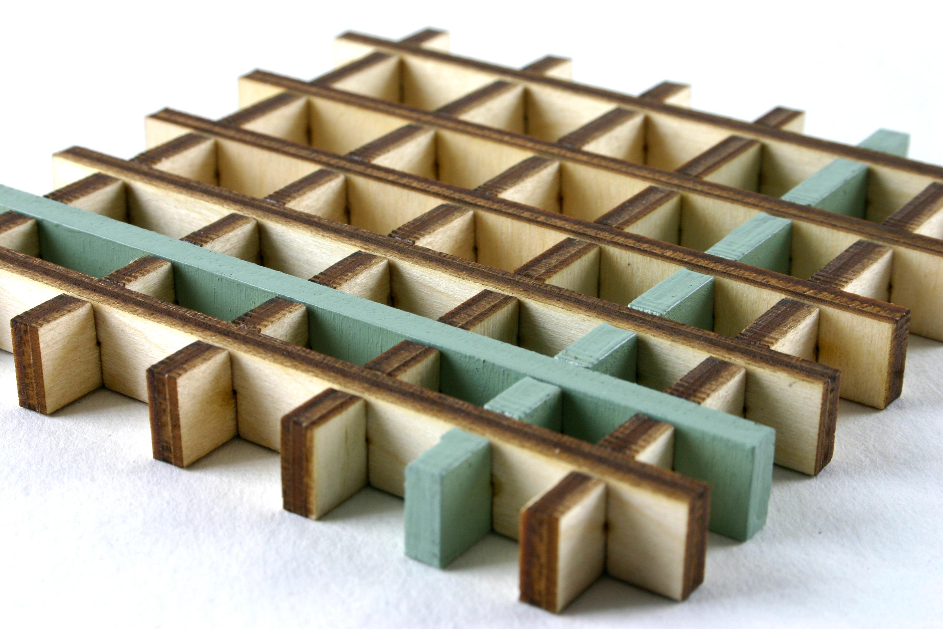 Square Grid Coaster