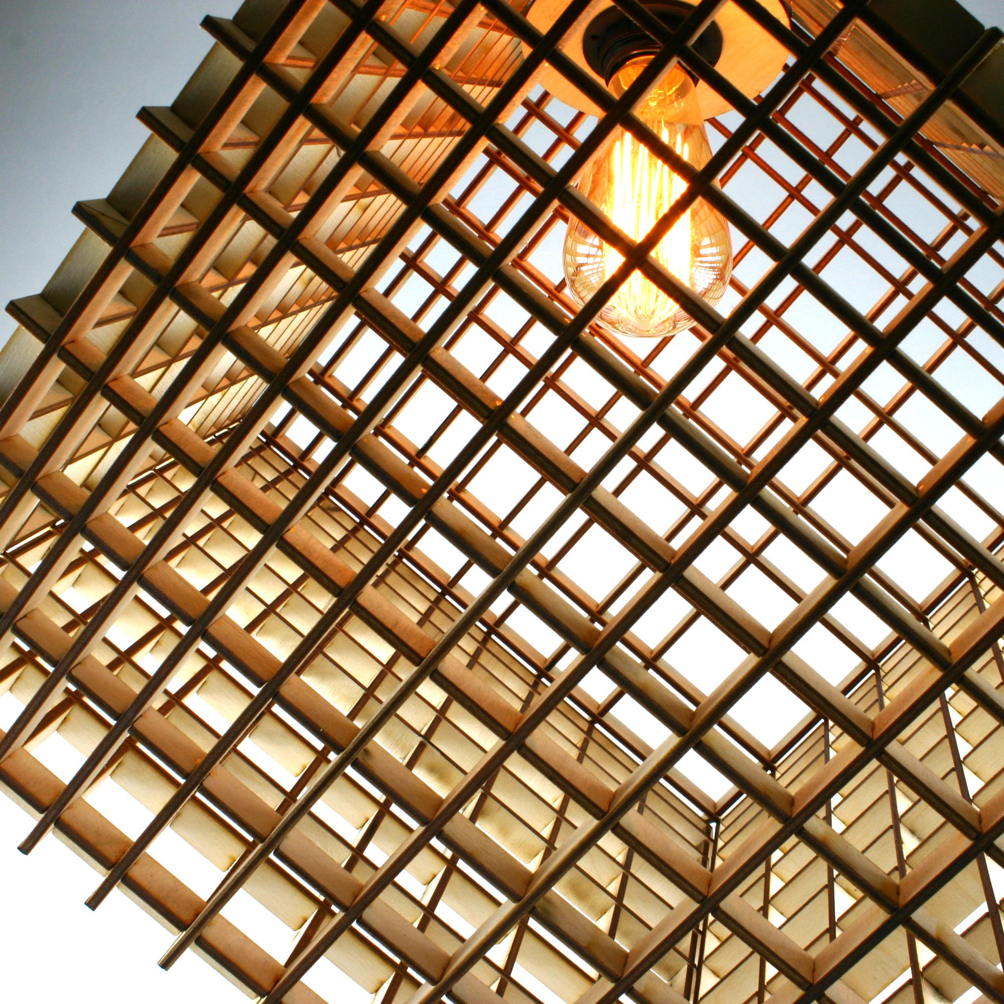 Square Grid Pendant Light
