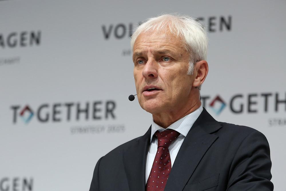 VW CEO Matthias Müller in crisis