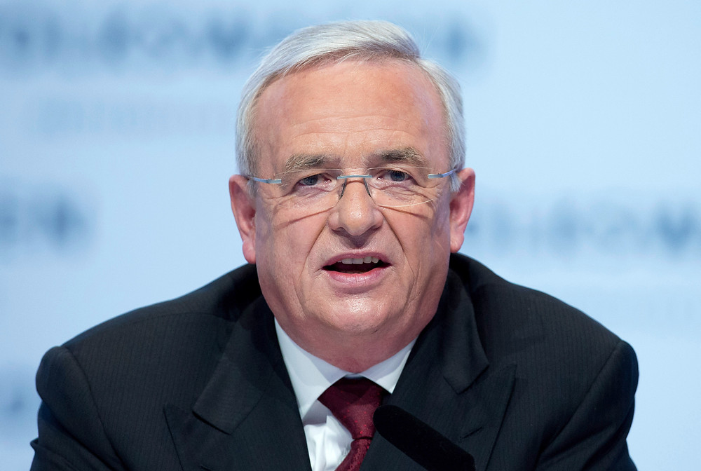 Former CEO Martin Winterkorn fronts the media in crisis