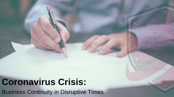 Coronavirus Crisis: Business Continuity in Disruptive Times