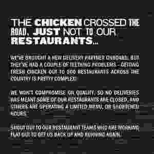 KFC's crisis response statement
