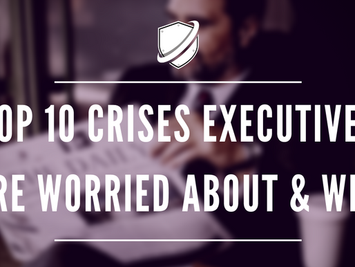 Top 10 crises executives are worried about & why